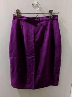 Magenta Office Skirt
