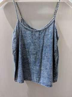 Denim Spag Top