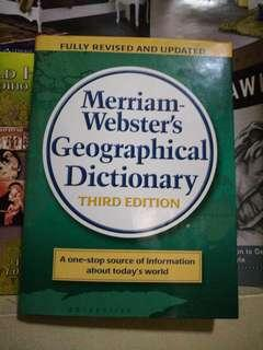 Merriam-Webster Geographical Dictionary Third Edition 2007