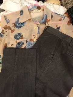 CHANG-LEE YUGIN全新秋冬褲+送藍灰襯衫