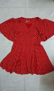 Next red polka dotted dress