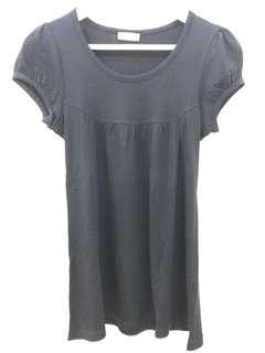 BABY DOLL TOP - BLACK