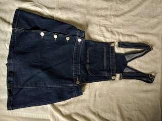 Denim Skirt romper overall