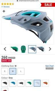 Leatt DBX 3.0 Helmet Grey Medium 55-59 Bnew