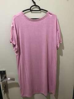 (Preloved) pink oversized shirt