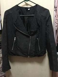 H&M Divided Women's Motorcycle Jacket - US size 8 ‼️w/ traces of chipped leather ‼️
