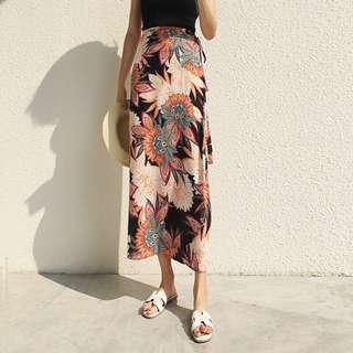 💕 Ulzzang Tumblr Bohemian Midi Floral Maxi Skirt