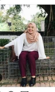 Batwing dusty pink top