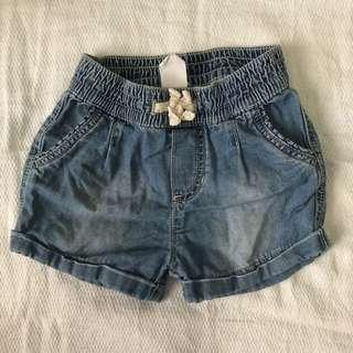 H&M soft denim shorts