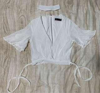 Ally White Fashion Top size 6