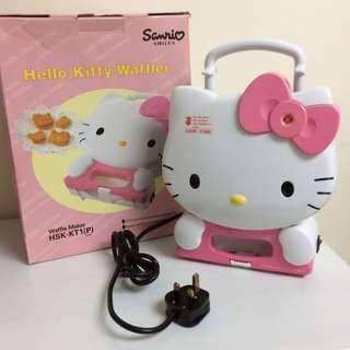 Hello Kitty 電熱窩夫餅爐 SANYO Waffle Maker 珍藏品 Sanrio 1998年 未用過 (全新)
