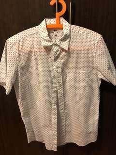 UNIQLO Dotted White Polo Shirt
