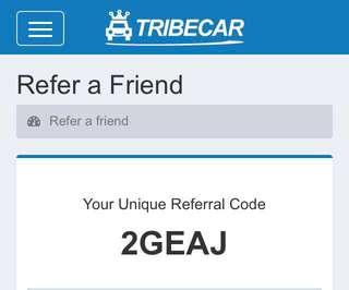 Tribecar Referral Code