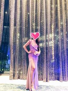 FOR RENT! Sparkly gradient pink long gown