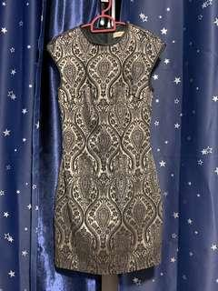 VGY Song Fitted Embossed Dress
