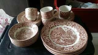 Vintage brown set