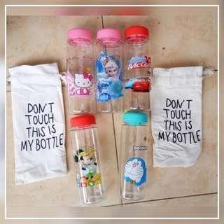 My bottle karakter + pouch / my botle tas karakter