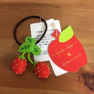 Franche Lippee 草莓頭飾 日本製 (全新 未用過)