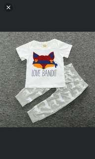 baby 70-90cm 2 piece tshirt and pants