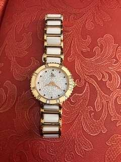 SK white rosegold watch