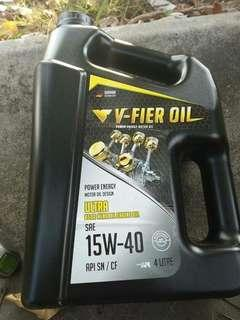 V-Fier Oil Power Energy Motor Oil (15W-40) Teknologi German Keluaran BumiPutera 100%