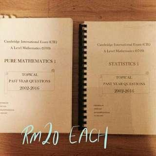 A Level Maths Past Year