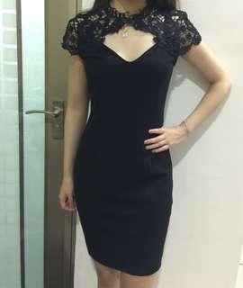 Black Lace Dress (chongsam)