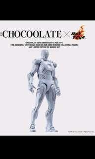 Hottoys iron man chocolate版 白色 Mark 7 連T裇衫-件
