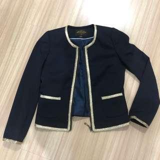 Navy Gold Listed Blazer