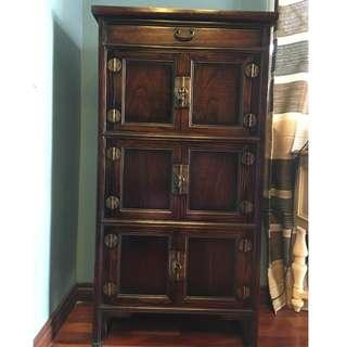 OldAsia Solid Wood Bookcase with Locks