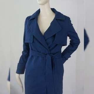 THE DAY (Korean Brand) Blue Trench Coat