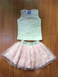Lacey Top with Pink Tutu Skirt