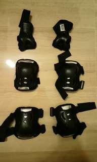 Safety apparels for knee, elbow and wrist (fits 12yo )
