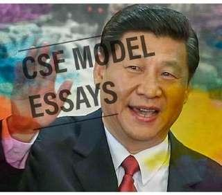 🚚 H2 China Studies In English (CSE) Model Essays and Notes