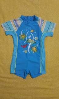 Turtle swimwear blue ocean