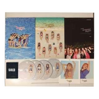 Twice Summer Nights / Dance the Night Away album, cd, polaroid, preorder, photocard