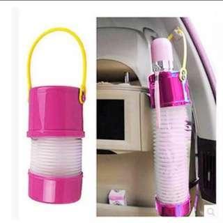 Foldable Car Interior Umbrella Holder (Black)