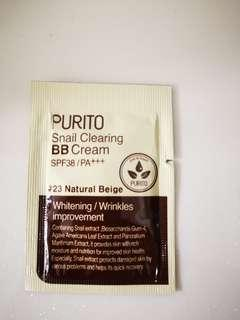*FREE SHIPPING* Purito Snail Clearing BB Cream SPF38/PA++ Sample