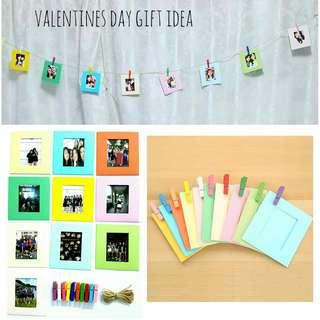 🚚 Valentines day gift idea Photo frames with string and pegs