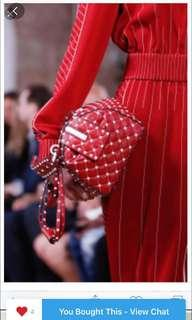 💯% Authentic and Original Red Valentino Rockstud Spike Quilted Leather