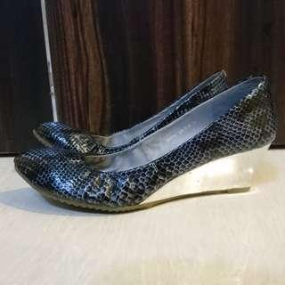Jipi Japa Mirror Wedge Snake Print Pumps蛇紋鏡船踭鞋