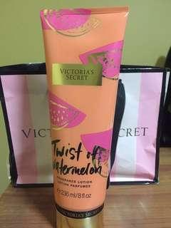 Victoria's Secret Twist Of Watermelon Fragrance Lotion- Limited Lotion (with paperbag)