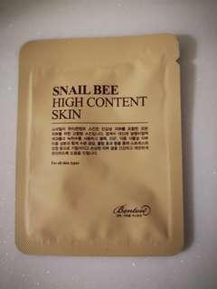 *FREE SHIPPING* Benton Snail Bee High Content Skin Toner Sample