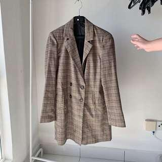 Checkered jacket blazer