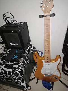 Brand Guitar Tigers jual secara set.