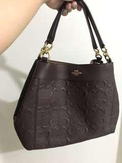 Coach Lexy Embossed Oxblood