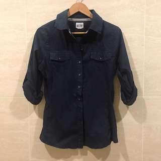 🚚 Converse 純棉深藍襯衫