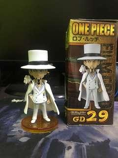 One Piece WCF - Rob Lucci Gold Sticker