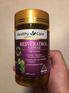 Healthy Care Resveratrol (白黎盧醇)180粒 現貨
