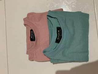 T shirt pink green size s